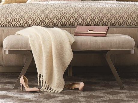 A.R.T. Furniture Prossimo Stone / Marrone Bronze Metallic Accent Figurati Bed Bench AT2501491844