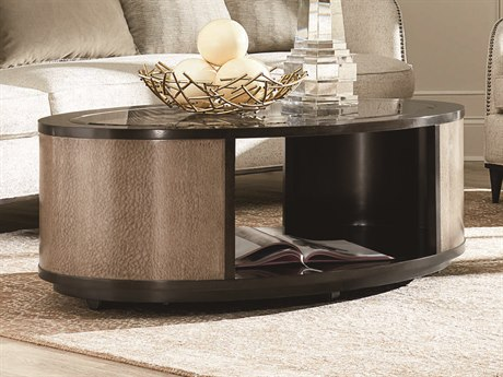 A.R.T. Furniture Prossimo Marrone / Pizza 50'' Wide Oval Coffee Table AT2503021840