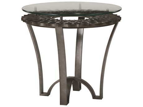 A.R.T. Furniture Prossimo Bronze Metallic 28'' Wide Round End Table AT2503631240