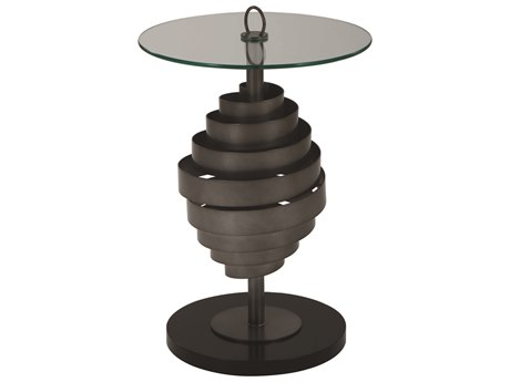 A.R.T. Furniture Prossimo Marrone / Bronze Metallic 17'' Wide Round Pedestal Table AT2503691844