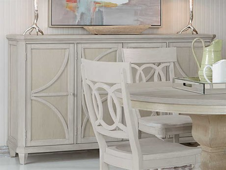 A.R.T. Furniture Roseline Sophie Stucco with Shimmer Accents 75''L x 19''W Rectangular Credenza AT2482522341