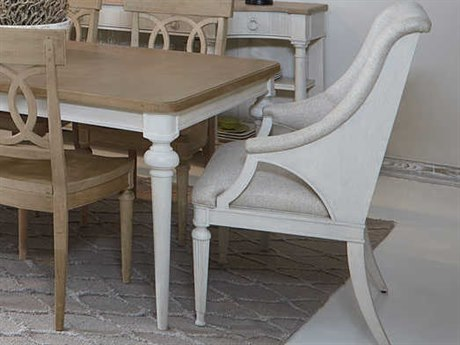 A.R.T. Furniture Roseline Sara Host Stucco White Dining Arm Chair AT2482002317
