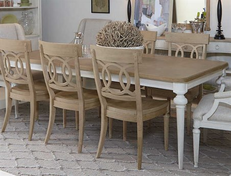 A.R.T. Furniture Roseline Lucy Natural with White Oak 72''L x 42''W Rectangular Dining Table AT2482202340