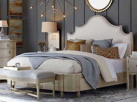 A.R.T. Furniture Roseline Gold Shimmer King Panel Bed