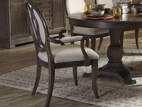 Hooker Furniture Corsica Dark Oval Back Dark Wood Dining