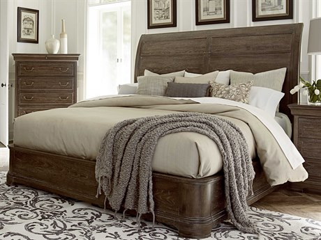 A.R.T. Furniture Saint Germain Coffee Queen Size Platform Sleigh Bed AT2151451513