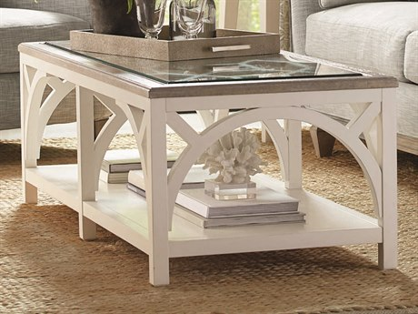 A.R.T. Furniture Summer Creek Scrubbed Oak / Harbor White 56'' Wide Rectangular Coffee Table