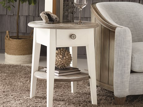 A.R.T. Furniture Summer Creek Scrubbed Oak / Harbor White 24'' Wide Round End Table
