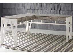 Summer Creek Scrubbed Oak / Harbor White L-Shaped Desk
