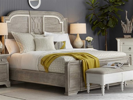 A.R.T. Furniture Summer Creek Scrubbed Oak / Harbor White Queen Panel Bed