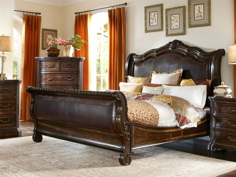 A.R.T. Furniture Valencia Dark Oak Eastern King Size Sleigh Bed
