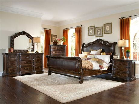A.R.T. Furniture Valencia Dark Oak Sleigh Bedroom Set