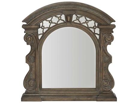 A.R.T. Furniture Vintage Salvage Bentley Carved Walnut 45''W x 48''H Dresser Mirror