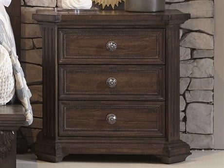 A.R.T. Furniture Vintage Salvage Cady Walnut Three-Drawer Nightstand