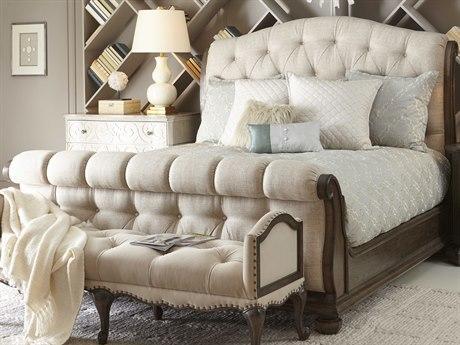 A.R.T. Furniture Vintage Salvage Walnut King Sleigh Bed