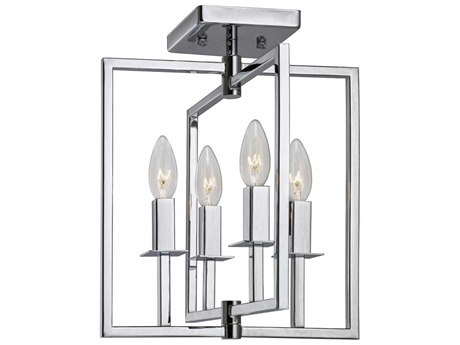 Artcraft Lighting Allston Chrome Four-Light 12'' Wide Flush Mount Light ACAC10724CH