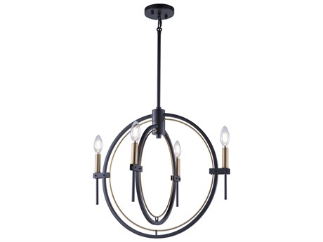 Artcraft Lighting Anglesey Matte Black / Harvest Brass 21'' Wide Mini Chandelier ACAC11454
