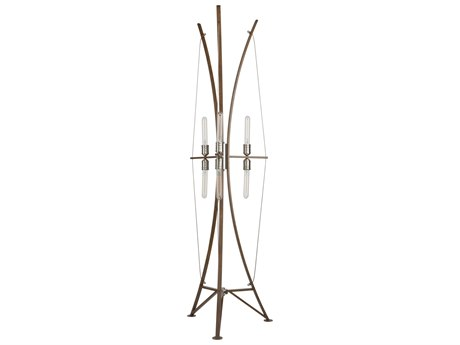 Artcraft Lighting Arco Faux Wood / Brushed Nickel Floor Lamp ACAC11484
