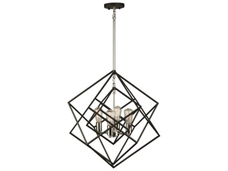 Artcraft Lighting Artistry Polished Nickel Four-Light 24'' Wide Chandelier ACAC11114PN