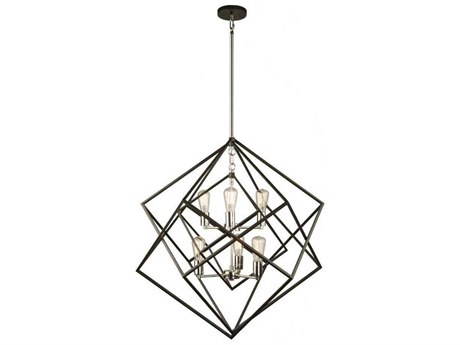 Artcraft Lighting Artistry Polished Nickel Six-Light 32'' Wide Chandelier ACAC11116PN
