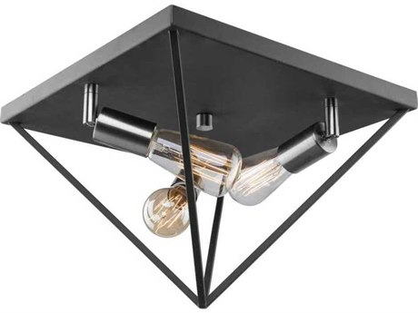 Artcraft Lighting Artistry Polished Nickel Three-Light 14'' Wide Flush Mount Light ACAC11113PN