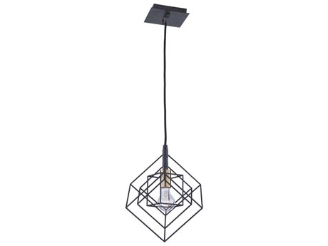 Artcraft Lighting Artistry Matte Black / Harvest Brass 9'' Wide Mini Pendants ACAC11117