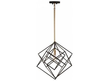 Artcraft Lighting Artistry Matte Black & Satin Brass 16'' Wide Pendant Light ACAC11111
