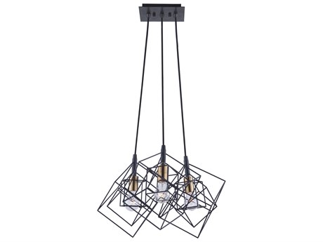 Artcraft Lighting Artistry Matte Black / Harvest Brass 27'' Wide Pendant ACAC11118