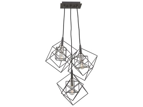 Artcraft Lighting Artistry Matte Black / Harvest Brass 27'' Wide Pendant ACAC11118PN