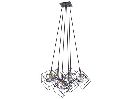 Artcraft Lighting Artistry Matte Black / Harvest Brass 27'' Wide Pendant ACAC11119
