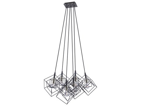 Artcraft Lighting Artistry Matte Black / Harvest Brass 27'' Wide Pendant ACAC11119PN