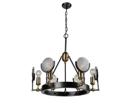 Artcraft Lighting Baker Street Six-Light 27.5'' Wide Chandelier ACAC10601