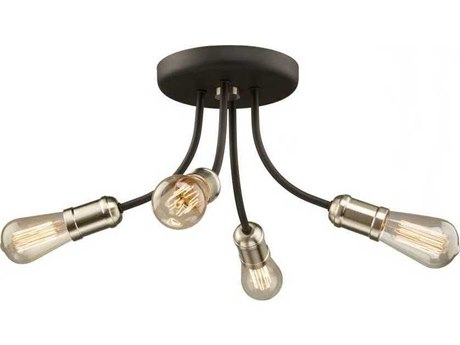 Artcraft Lighting Barclay Street Brushed Nickel Four-Light 16'' Semi-Wide Flush Mount Light ACAC11294BN