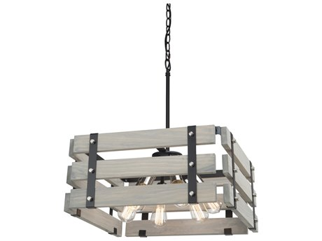 Artcraft Lighting Barnyard Beach Wood 19'' Wide Industrial Pendant