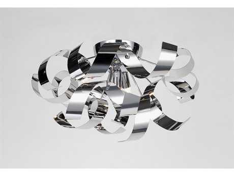 Artcraft Lighting Bel Air Chrome Four-Light Flush Mount Light ACAC604CH