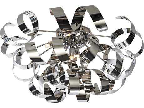 Artcraft Lighting Bel Air Chrome Five-Light Flush Mount Light ACAC605CH