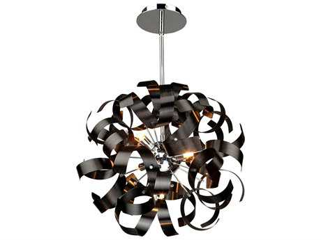Artcraft Lighting Bel Air Black Five-Light Pendant ACAC600BK