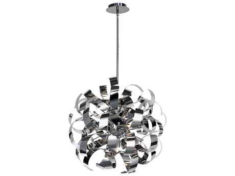 Artcraft Lighting Bel Air Chrome Five-Light 18'' Wide Pendant Light