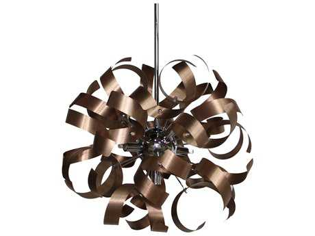 Artcraft Lighting Bel Air Brushed Copper & Chrome Five-Light Pendant ACAC600CO