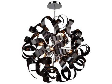 Artcraft Lighting Bel Air Black 12-Light 24'' Wide Pendant Light ACAC601BK