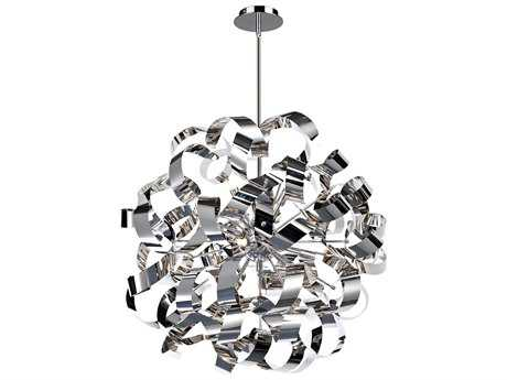 Artcraft Lighting Bel Air Chrome 12-Light 24'' Wide Pendant Light