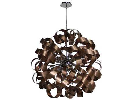 Artcraft Lighting Bel Air Brushed Copper & Chrome 12-Light Pendant ACAC602CO