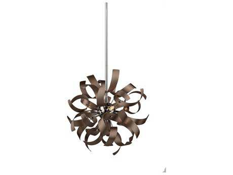 Artcraft Lighting Belair Brushed Copper & Chrome 13'' Wide Pendant Light ACAC606CO