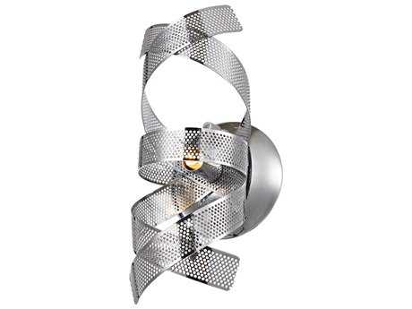 Artcraft Lighting Bel Air Chrome Mesh Leaves 5'' Wide Wall Sconce ACAC623CH