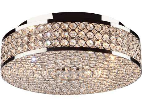 Artcraft Lighting Bella Vista Stainless Steel Five-Light Flush Mount Light ACAC10315
