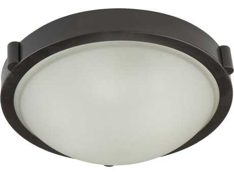 Artcraft Lighting Boise Bronze Two-Light 13'' Wide Flush Mount Light ACAC2313OB