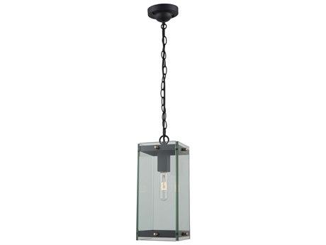 Artcraft Lighting Bradgate Matte Black / Harvest Brass Glass Outdoor Hanging Light