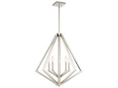Artcraft Lighting Breezy Point Polished Nickel Five-Light 25'' Wide Chandelier ACAC10685PN