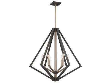 Artcraft Lighting Breezy Point Bronze Six-Light 30'' Wide Chandelier
