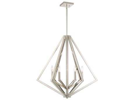 Artcraft Lighting Breezy Point Polished Nickel Six-Light 30'' Wide Chandelier